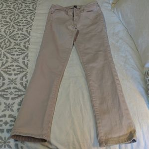 GAP Factory Girlfriend Cropped Lilac Jeans